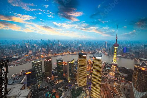 Foto op Aluminium Shanghai shanghai in sunset