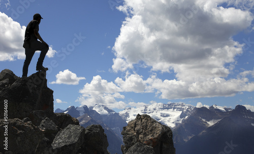 Foto op Canvas Alpinisme Bergsteigen