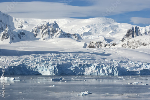 Poster Antarctic The glaciers on the coast of the western Antarctic Peninsula a s