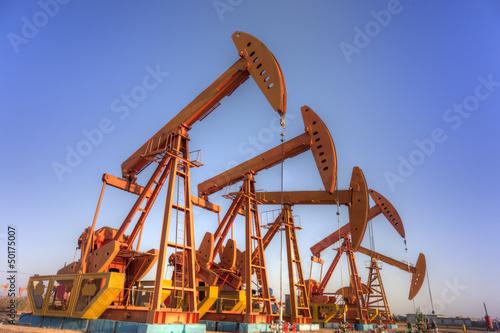Fototapeta oil pump jacks  HDR obraz