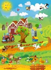 Na farmi - presjek