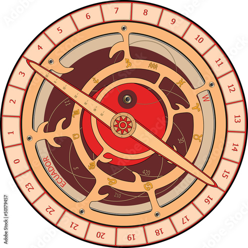 astrolabe cartoon Canvas Print