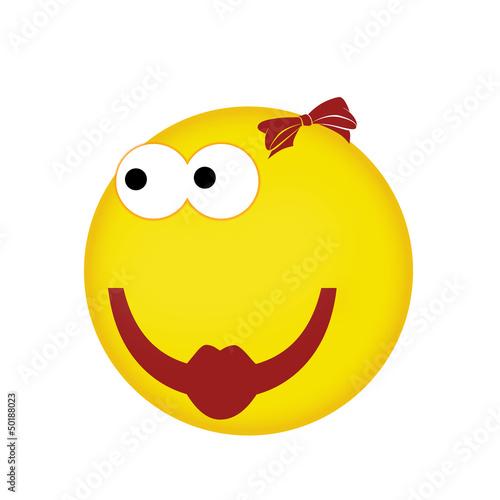 Smiley und weiblich - kaufen Sie diese Illustration und