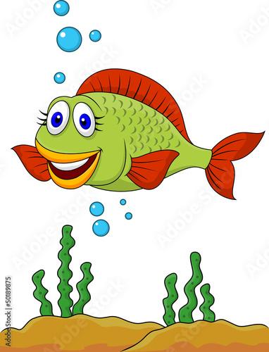 Recess Fitting Submarine Cute fish cartoon