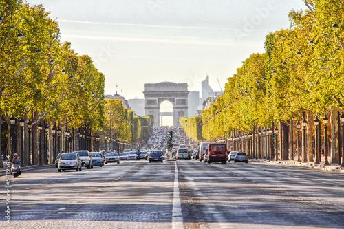 Fotografie, Obraz  The Champs-Elysees