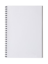 Open Notebook Isolated On White