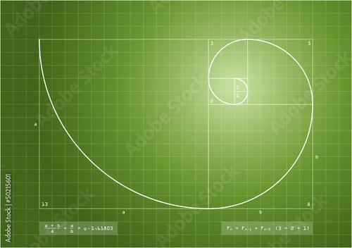 Photo  Fibonacci Sequence - Golden Spiral