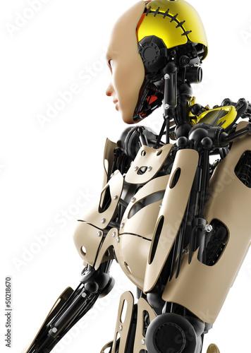 Foto op Plexiglas Fitness cyborg girl cool pose