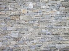 Texture Of Rectangle Stone Wall For Background