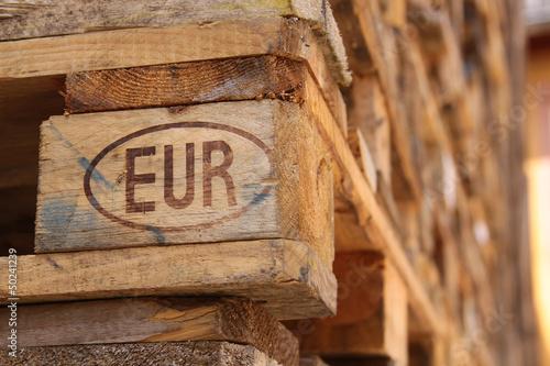 Fotografie, Obraz  Euro-Palette