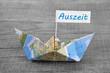 canvas print picture - Auszeit - Konzept Urlaub mit Segelboot