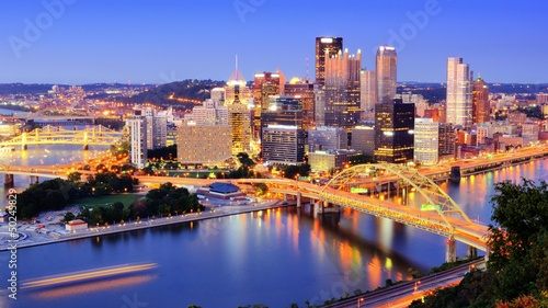 Plakat Pittsburgh, Pennsylvania Skyline