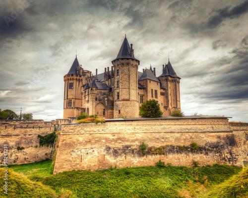 Chateau de Saumur Castle in France Canvas Print