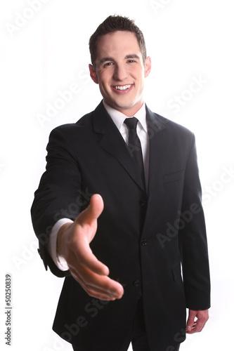 Fotografie, Obraz  Smiling Young Business Man