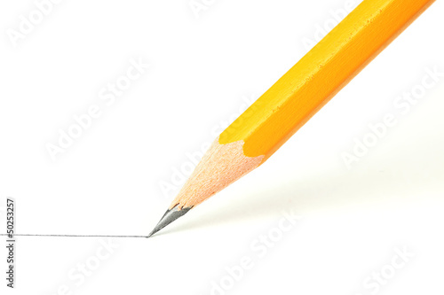 Fotografie, Obraz  Drawing a line with a pencil
