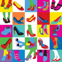Lady Shoes Pop Art Style