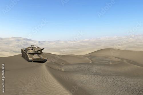 Deurstickers Militair Wüsten Panzer