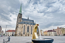 Saint Bartholumew Cathedral In Pilsen, Czech Republic