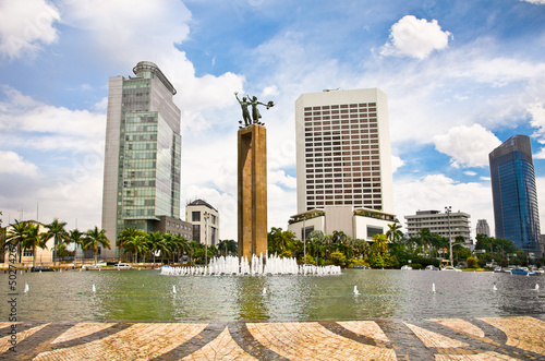 Selamat Datang Monument and fountain,  Jakarta, Indonesia.