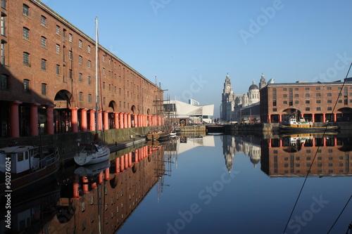 Wintermorgen im Albert Dock von Liverpool