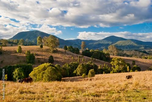 Nimbin, Australia, rural landscape