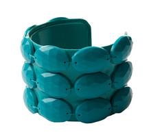 Crystalline Plastic Beads Green Bangle