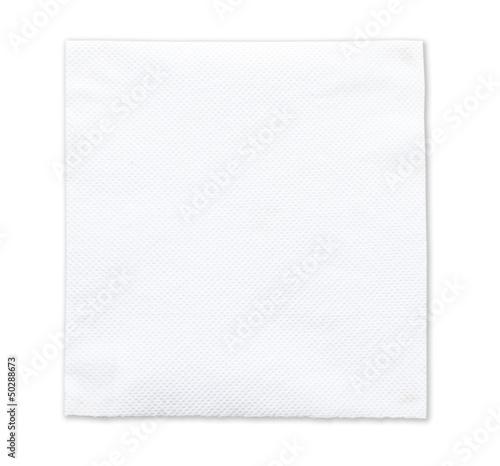 White tissue paper on white background Canvas Print