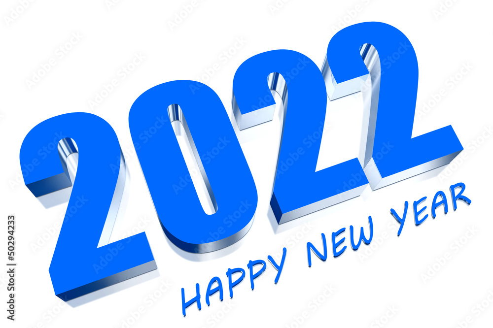 Poster  3D Happy New Year 2022