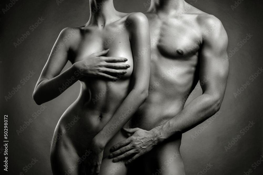 Fototapeta Nude sensual couple
