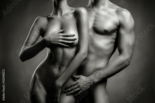 Nude sensual couple