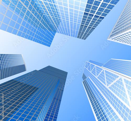 Naklejka dekoracyjna Skyscrapers