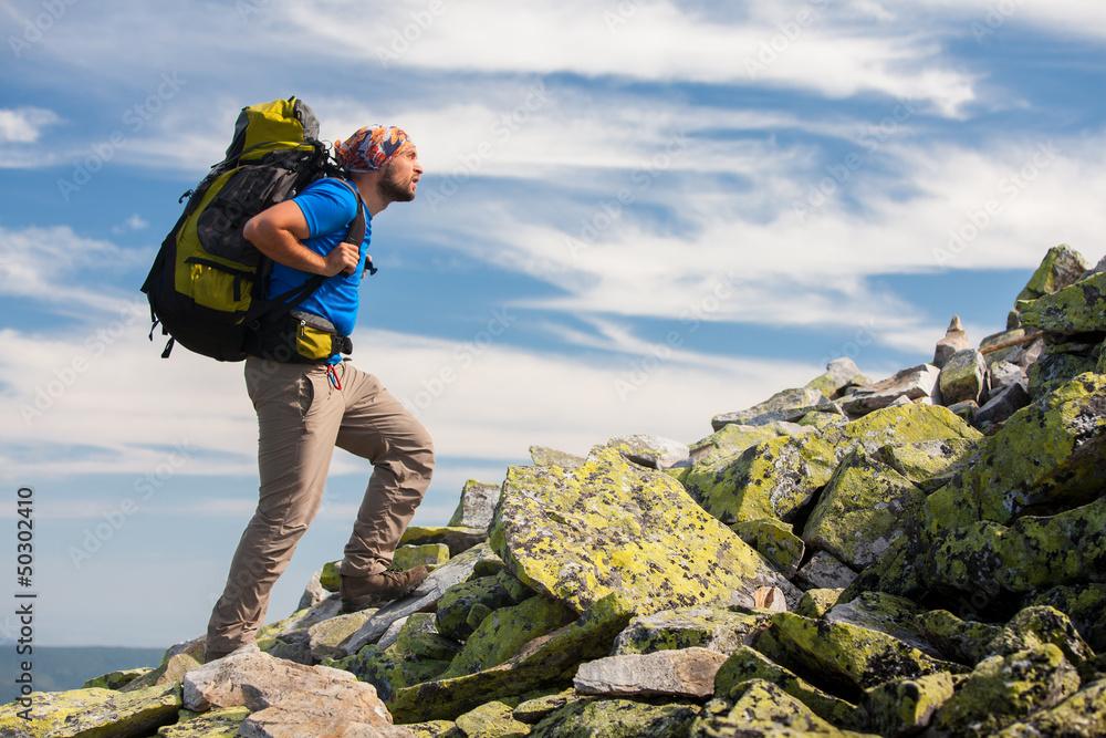 Fototapety, obrazy: Hiking in Carpathian mountains