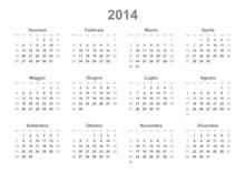 Italian 2014 Calendar