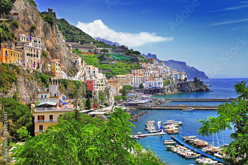 Photo sur Toile Naples stunning Amalfi coast. Italy