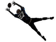 American Football Player Man C...