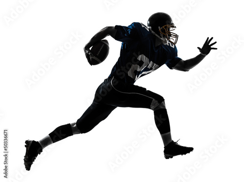 american football player man running silhouette