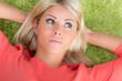 canvas print picture hübsche blonde junge frau