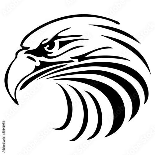 Adler Kopf Logo Fototapete