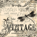 Vintage collage background