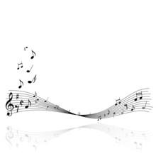 Musik Noten Notenschlüssel