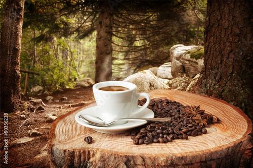 Poster Cafe sfondo caffè