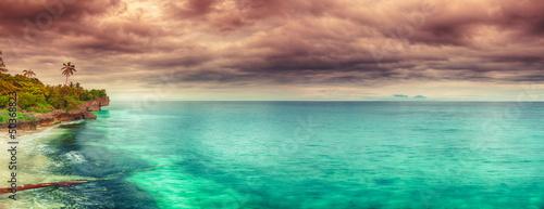 Poster Salmon Sunset panorama