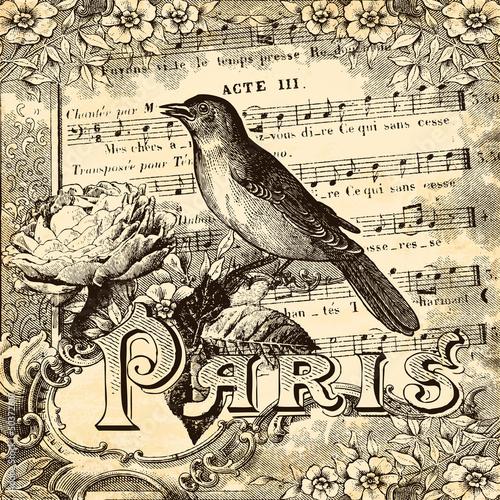 Papiers peints Affiche vintage Paris vintage