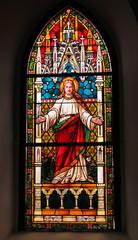 Naklejka witraż z Jezusem