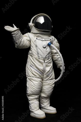 Deurstickers Nasa astronaut on black background