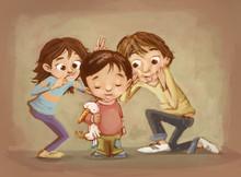Niños De Broma Y Burla