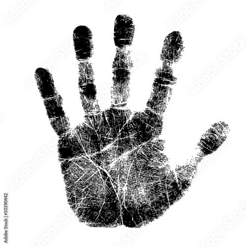 Fényképezés Hand print