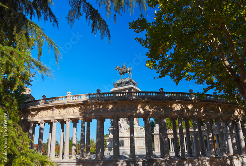 Monument in the Park of the Pleasant Retreat in Madrid Spain Wallpaper Mural