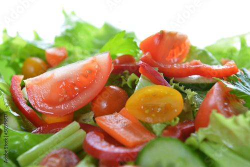 Poster de jardin Vache salad with vegetable