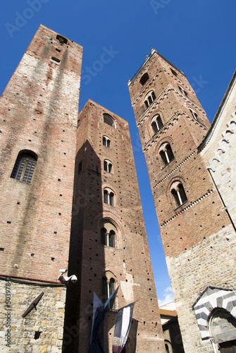 Towers of the old town of Albenga, Liguria-Italy Wallpaper Mural